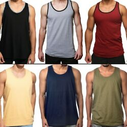 Men Tank Top Camo Sleeveless Gym A Shirt Solid Workout Fitness Beach Army Muscle $10.95