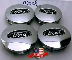 NEW 4PCS Chrome Center Wheel Hub Caps Emblems Cover Fit for Ford Vehicles 67mm