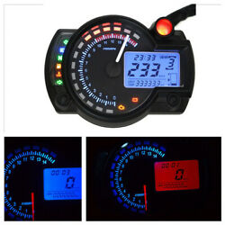 Motorcycle ATV 15000rpm LCD Digital Dual Color Backlight Speedometer Tachometer $63.25