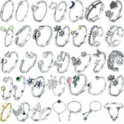 Women Finger Rings 925 Wedding Open Ring Fashion Sterling Silver Jewelry Gifts