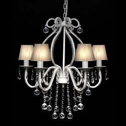 Modern Crystal Clear Ceiling Lighting Chandelier 6 Light Lamp Pendant Fixture✓