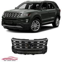 Fits For Ford Explorer 2016 2017 Front Upper Grille Silver $149.00