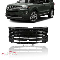 Fits For Ford Explorer 2016 2017 Front Upper Grille Gloss Black $149.00