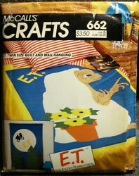 Vintage UNCUT 1982 McCall's E.T. Wall Hanging & Twin Size Quilt Pattern #662