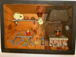 VINTAGE GERMAN FOLK ART WOODEN 3D DIORAMA HAND CRAFTED WALL HANGING