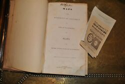 1852 Book Map Plats Washington DC A. Boyd Hamilton & Papers Signed - DB Clarke