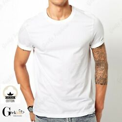 *NEW* 3 6 PACK 100% COTTON Crewneck Tagless T shirt Undershirt S XL $19.99