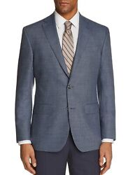 Jack Victor Mens Conway Micro houndstooth Sport Coat 38R Blue Super 100s Wool $185.00