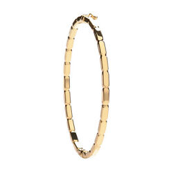 375 9ct Yellow Gold Fancy Bangle - 3.8grams - Fully Hallmarked