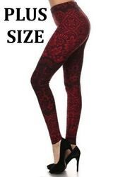 Laced In Red Plus Size PS Amazing Buttery Soft Woman's Leggings $10.78