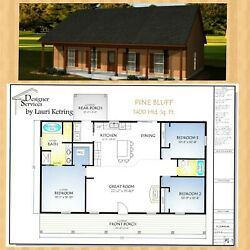 The Pine Bluff Home House Building Plans 1400 sf