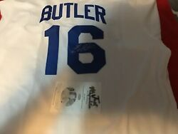 BILLY BUTLER AUTOGRAPHED KANSAS CITY ROYALS JERSEY White COA