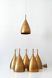 SET of SIX Mid Century Modern RASS Hanging Lights PENDANT LAMPS 1950s GERMANY