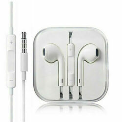 New Headphones Earphones With Remote & Mic For Apple iPhone 6S 6 5 5S 4S White