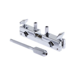 1pc Metal Connecting Clamp Holder Bracket Rod for Cowbell Parts Accessory $22.33