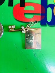 Vintage Charm Come Up And See Me Sometime With Jeweled Skeleton Key