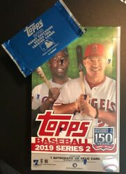 2019 TOPPS SERIES 2 HOBBY BOX + 1 SILVER PACK & FREE PRIORITY MAIL SHIPPING