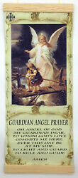 The Guardian Angel Prayer Christian Home Decor wall hanging canvas print 8quot;x18quot; $26.88