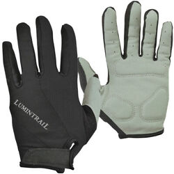 Lumintrail Shock Absorbing Full Finger Cycling Gloves for Men and Women $9.99