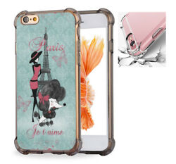 For iPhone X 6 6s 7 8 Phone Case Cover Vintage French Poodle Girls $11.26