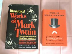 2 BKS MARK TWAIN ILLUSTRATED WORKS HCDJ 1ST AVENEL 1979 WHO IS MARK TWAIN HCDJ