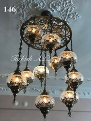 Ottoman Chandelier With 11 Crack Globes ID:146 $349.00