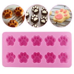 10 DIY Silicone Paw Mold Ice Cube Candy Chocolate Mould Cake Baking Tools Soap