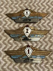 Lot Red Army Specialist Master Tank Russian Pin uniform Insignia Badge 11amp;2 $15.00