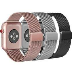 Magnetic Milanese Band Metal Strap for iWatch Apple Watch 42mm 38mm Series 3 2 1