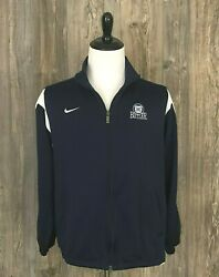 Nike Fit Dry Mesh Athletic Track Jacket Butler University Full Zip Men's Large