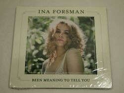 INA FORSMAN Been Meaning To Tell You (CD) 2019 SEALED!! Vocals BLUES CARAVAN