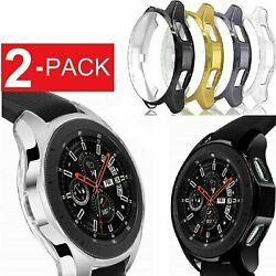2 Pack Samsung Galaxy Watch Case 42mm 46mm Soft TPU Protective Case Cover Frame
