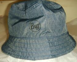 BUFF TRAVEL BUCKET HAT  REVERSIBLE UPF 50+ PROTECTION  ONE SIZE  BLUE NWT