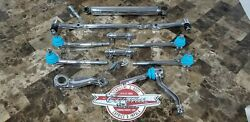 NEW-IN-BOX CHROME Steering Linkage Light Blue Set 77-96 Cadillac Fleetwood RWD
