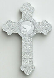 Christian Wall Cross Dove White Silver All Occasion Gift Dayspring Cards $9.95