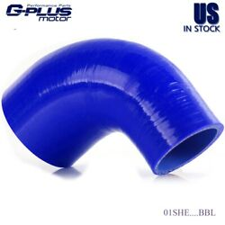 Blue 19mm -38mm 90 Degree Hose Turbo Silicone Elbow Coupler Piping Tube
