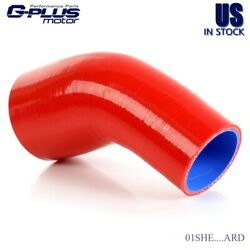 Gplus 23mm - 27mm 45 Degree Elbow Silicone Hose Turbo Coupler Red Piping Hose