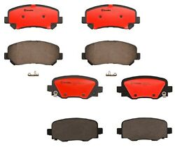 Brembo Front and Rear Ceramic Brake Pad Set Kit For Jeep Cherokee with ABS 14-19