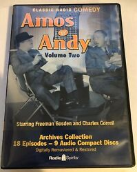 AMOS 'N' ANDY VOLUME TWO 2 (OLD TIME RADIO) 9 CDs Radio Spirits Amos and Andy