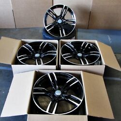 Fits BMW 5 6 Series M6 Sport Style 437 in Black Machined Rims 19