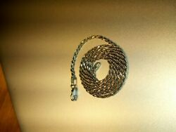 6.7grms of 14kt white gold rope chain