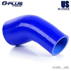 Gplus 45mm -54mm 45 Degree Hose Turbo Silicone Elbow Coupler Blue Pipe Tube