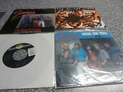 Lot of 4 Survivor 45 RPM Records Is This Love PS Eye of the Tiger High on You +