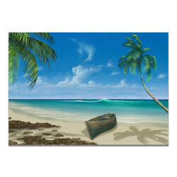 Natural Beach Paradise Landscape Canvas Painting Poster Home Art Wall Decor $4.99