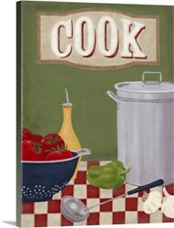 Cook#x27;s Kitchen Canvas Wall Art Print Vegetables Home Decor $34.99