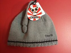 BARTS Infants Dark Heather Gray Caro Beanie - Size 47cm - NWT