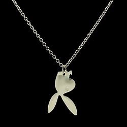 Playboi Carti Style Upside Down Bunny Pendant Necklace - GoldSilver