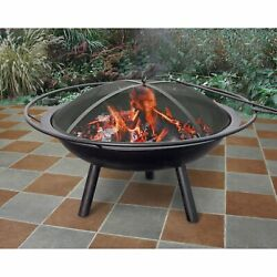 Landmann Halo Steel Fire Pit For Summer and Fall outdoor yard and Patio events