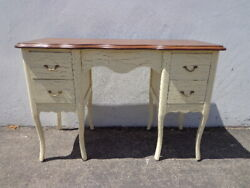 Antique Desk Table Vintage Regency French Provincial Writing Set Vanity Shabby $599.00