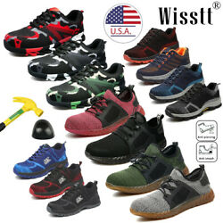 Men's Safety Work Shoes Indestructible Steel Toe Ventilation Bulletproof Boots M